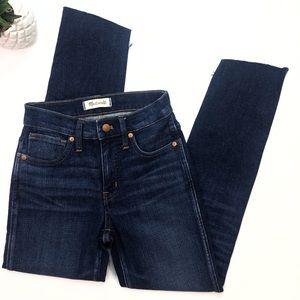 Raw Hemmed Madewell Boho Jeans Size 24